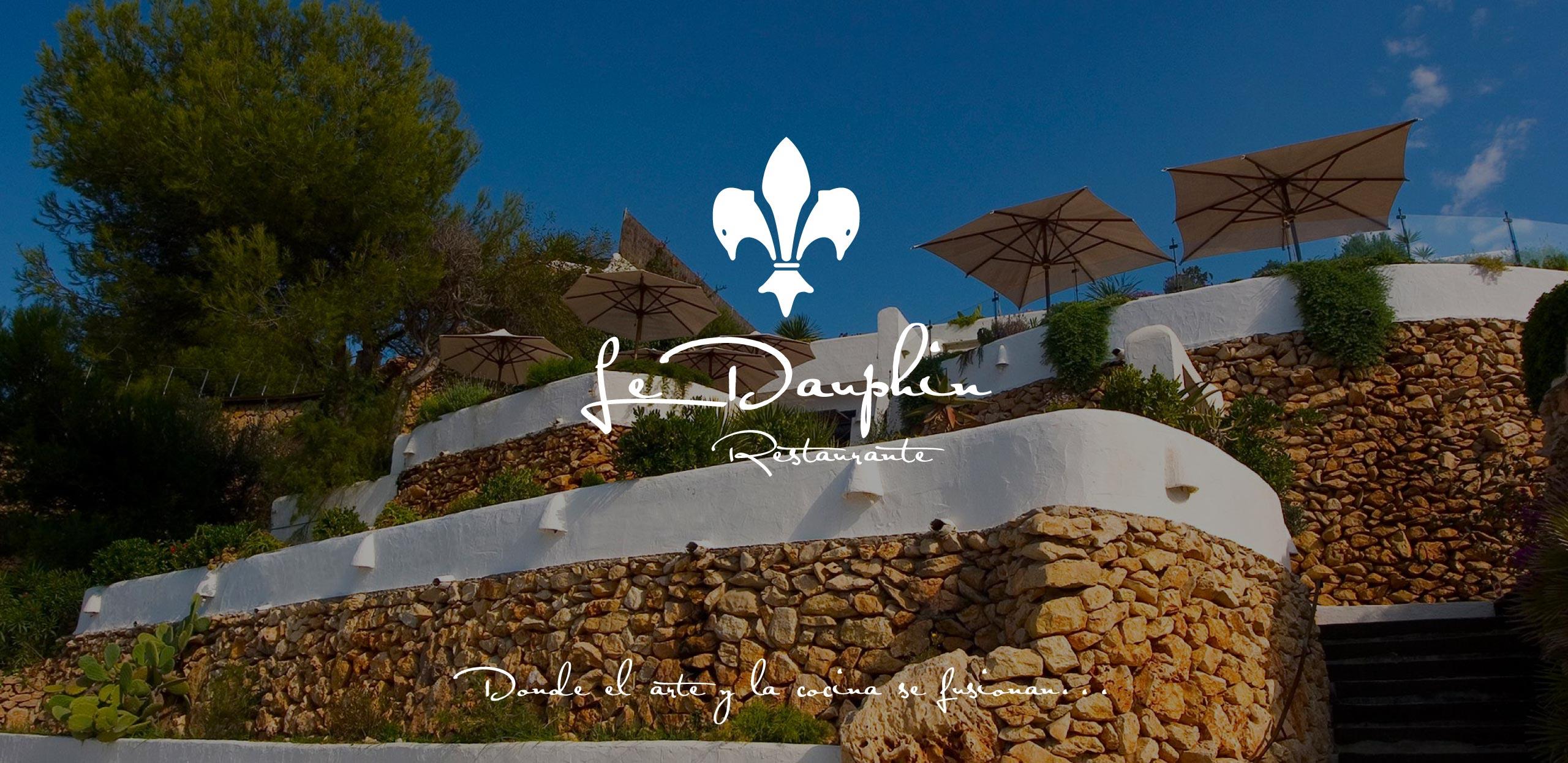 estudio de diseño grafico y web en murcia, restaurante Le dauphin