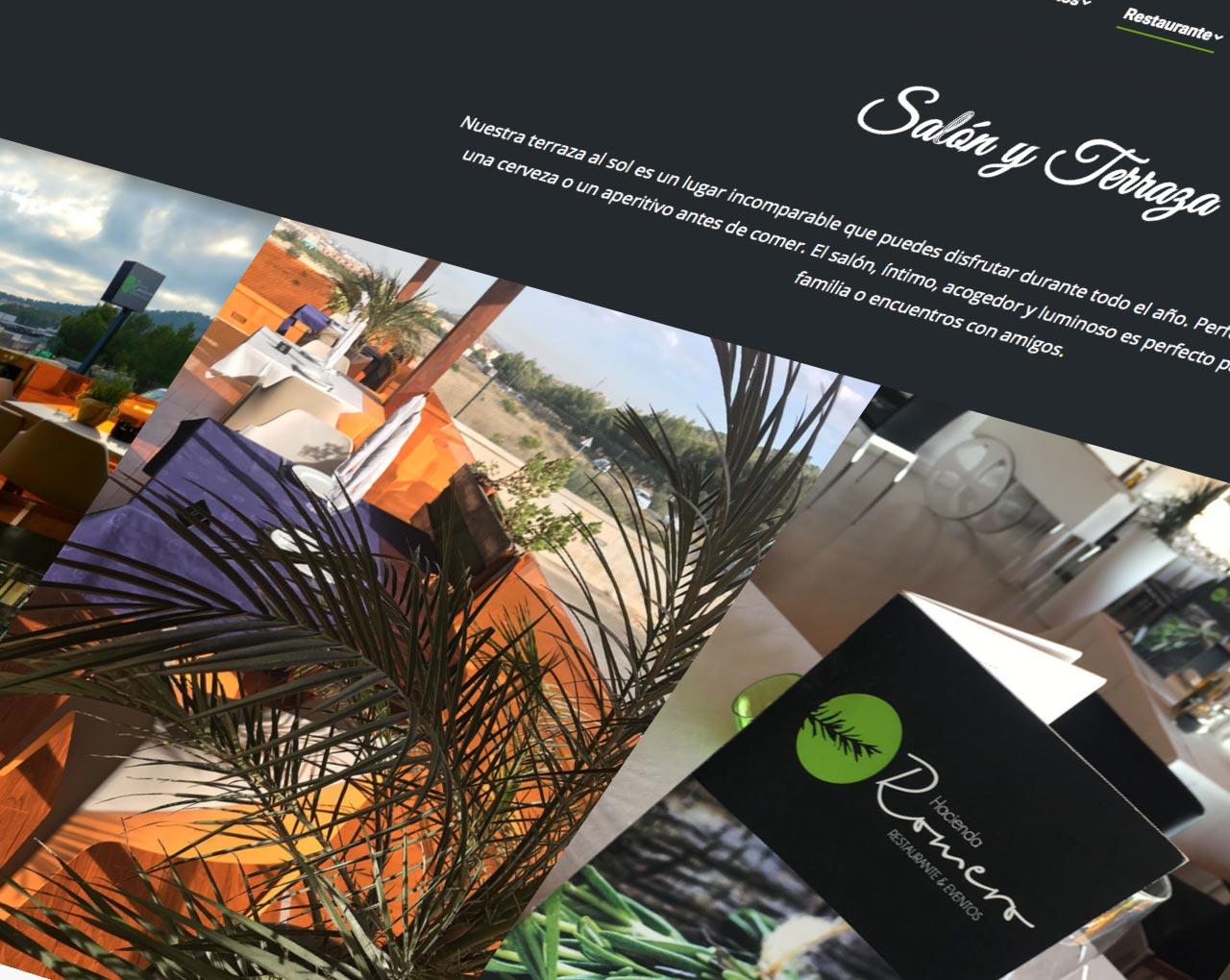 estudio de diseño grafico y web en murcia, restaurante y eventos hacienda romero