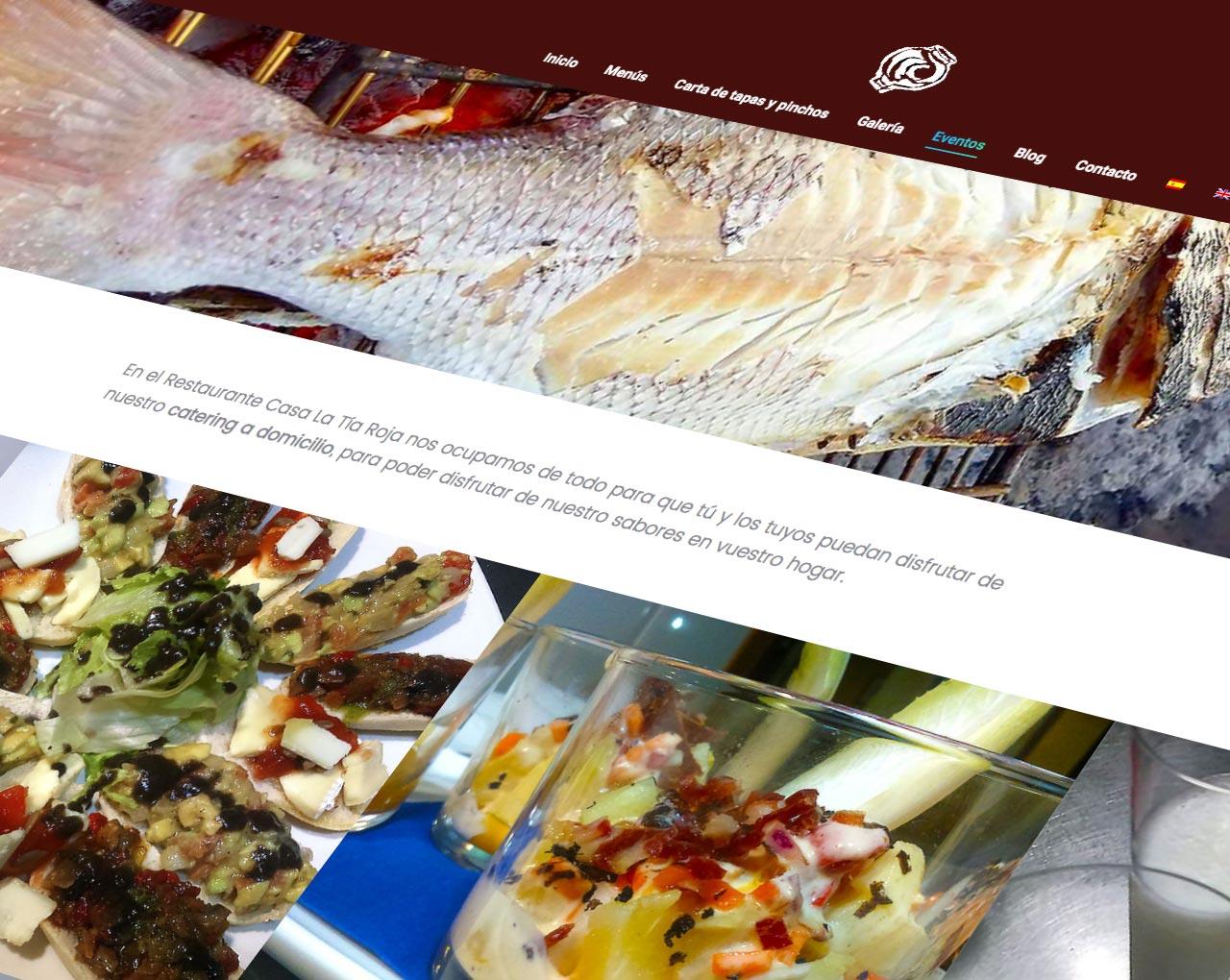estudio de diseño grafico y web en murcia, restaurante casa la tia roja
